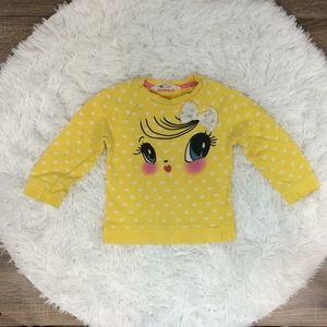 H&M Girls Sz 1/2 Years Long Sleeve Yellow